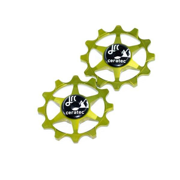 Kółka ceramiczne przerzutki JRC Components 12T do SRAM 1x system - fluo zielone /acid green/