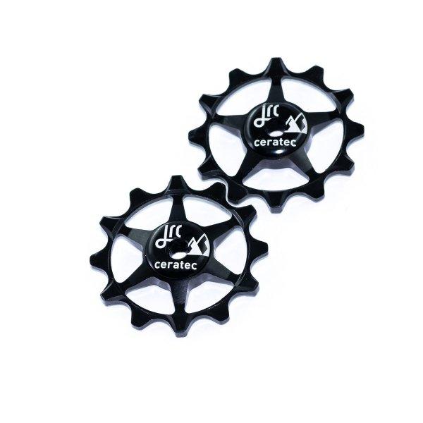 Kółka ceramiczne przerzutki JRC Components 12T do SRAM 1x system - czarne /black/