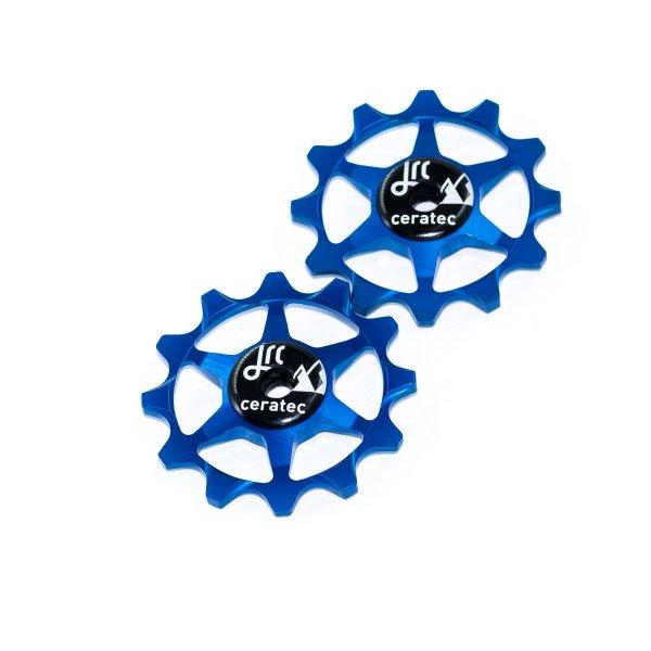 Kółka ceramiczne przerzutki JRC Components 12T do SRAM 1x system - niebieskie /blue/