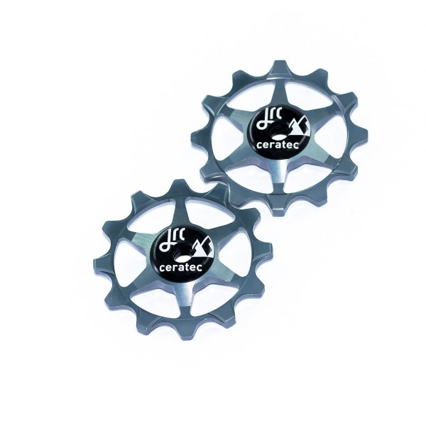 Kółka ceramiczne przerzutki JRC Components 12T do SRAM 1x system - szare /gunmetal/