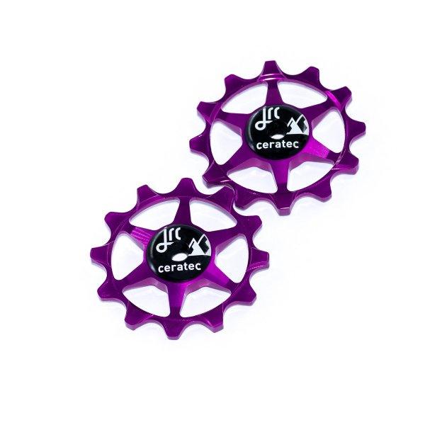 Kółka ceramiczne przerzutki JRC Components 12T do SRAM 1x system - fioletowe /purple/