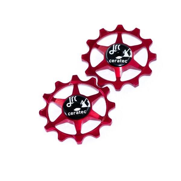 Kółka ceramiczne przerzutki JRC Components 12T do SRAM 1x system - czerwone /red/