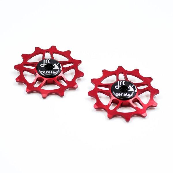 Kółka ceramiczne przerzutki JRC Components 12T do SRAM Force / Red AXS - czerwone /red/