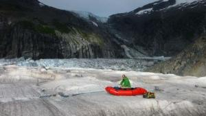 working on a glacier