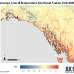 a sample temperature map of southeast alaska