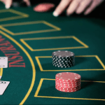 Players playing blackjack with king of hearts and queen of hearts at A K Casino Knights