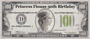 Princess fionas Birthday money