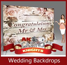 A K Casino Knights fun casino hire wedding backdrops wedding casino hire