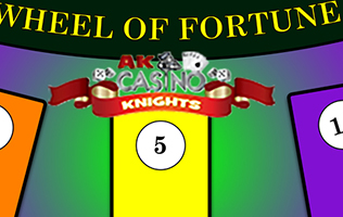 Wheel of fortune game hire at A K Casino Knights, Casino party offer wheel of fortune
