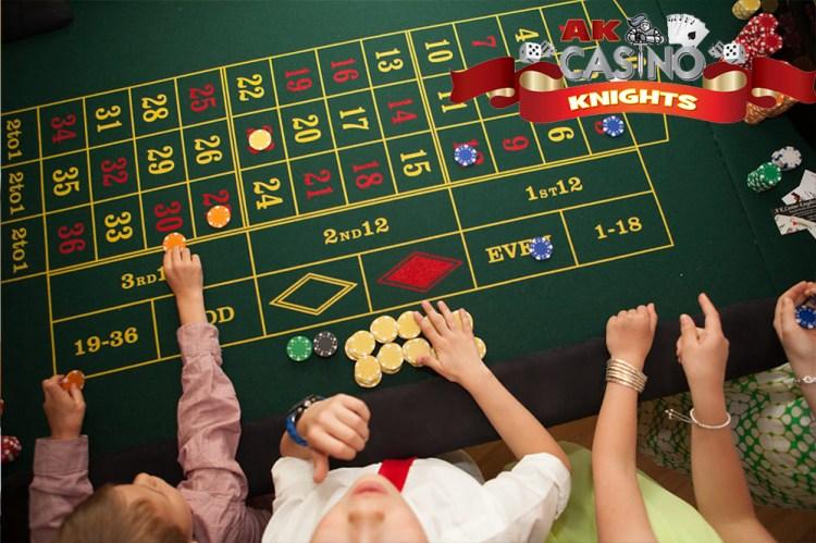 A K Casino Knights childrens fun casino hire