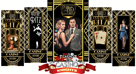 Great gatsby and roaring 20's casino themed hire