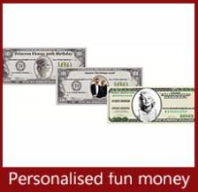 A K Casino Knights personalised fun money