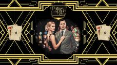 Roaring 20's backdrop themeing at A K Casino Knights