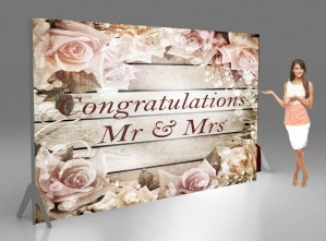 Wedding backdrop for photography ad background