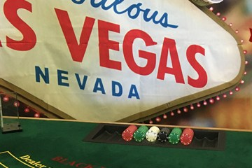 A K Casino Knights Las Vegas themed hire