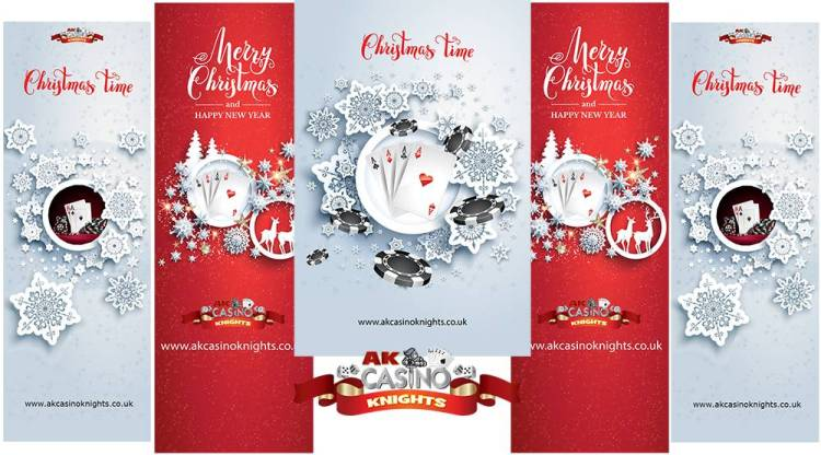 Christmas fabric tension banners for hire