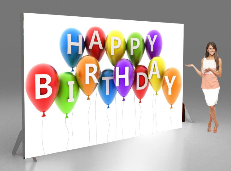 Happy birthday fabric tennsion banners