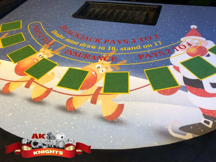 Blackjack Christmas casino table layout
