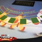 Blackjack Christmas casino table layout