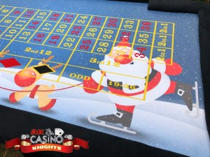 Christmas wedding casino hire with christmas layouts