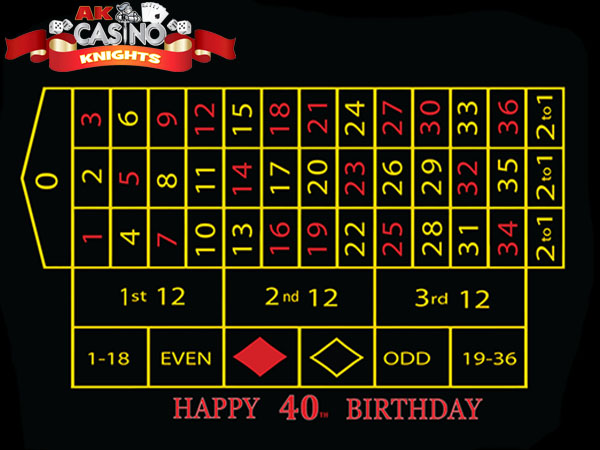 Birthday printed casino layouts A K Casino Knights
