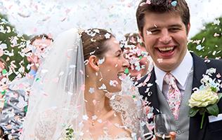 Sussex wedding casino hire bride and groom