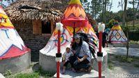 Foto: Objek wisata Kampung Indian di Kediri (Andhika Dwi/detikTravel)