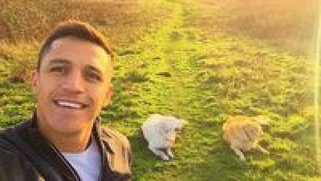 Pria asal Chile ini seringkali mengajak Atom dan Humber, dua anjing kesayangannya jalan-jalan (alexis_officia1/Instagram)