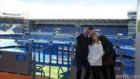 Bagian pembuka tur Bernabeu, melihat stadion dari tribune paling atas.