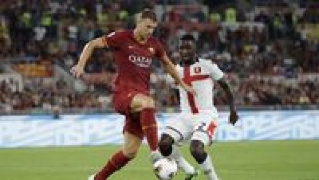 Image result for photos of roma vs genoa