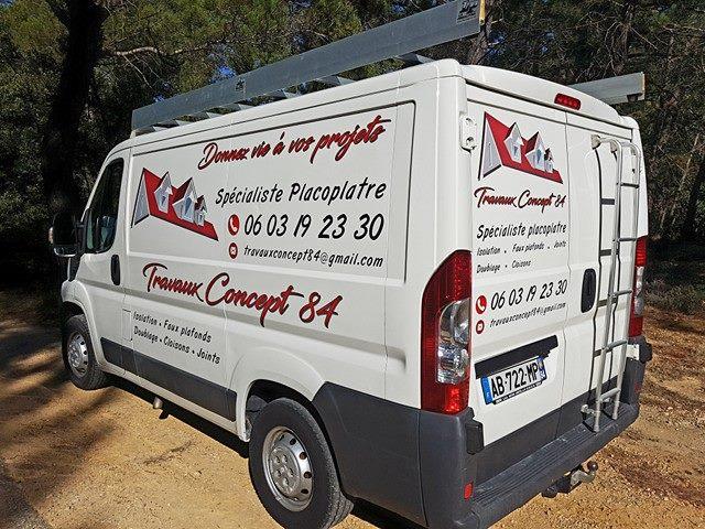 Flocage camion travaux concept 84 ak digital