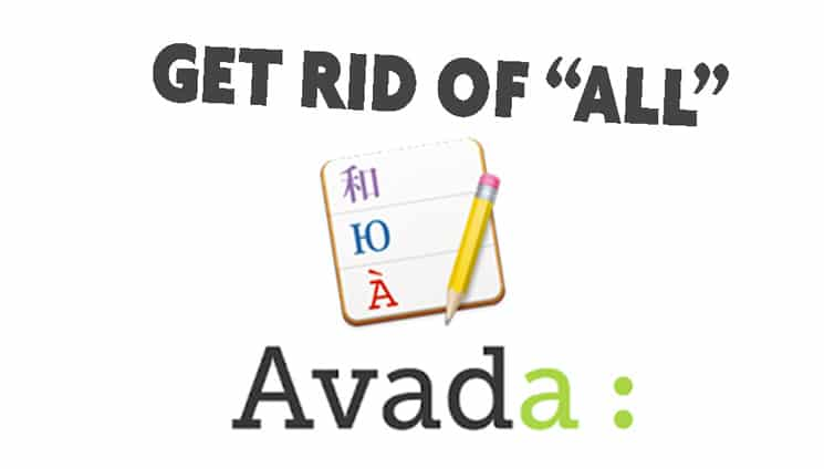 """Traduire le filtre """"All"""" du Portfolio d'Avada"""