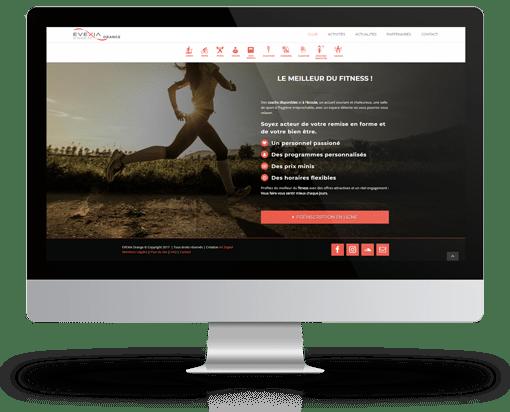 site wordpress evexia orange realisation agence AK digital avignon