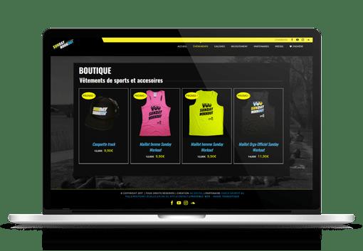 creation boutique en ligne sunday workout-avignon agence ak digital