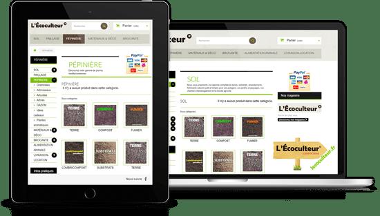 boutique en ligne designresponsive l'ecoculteur.fr realisation agence AK Digital