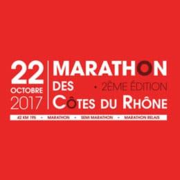 Logo marathon des cotes du rhone 2017 billetterie en ligne - agence AK Digital