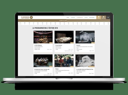 programmation spectacle site internet la manufacture festival avignon realisation ak digital