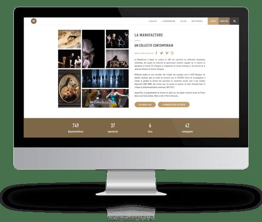 site internet la manufacture festival avignon realisation ak digital