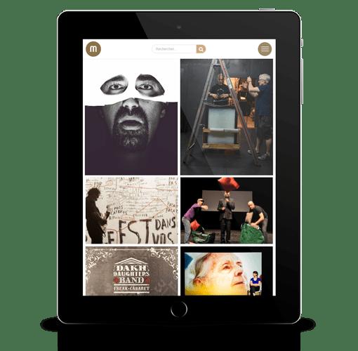 site internet responsive ipad tablette la manufacture festival avignon realisation ak digital