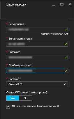Create SQL Server