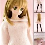 11月新作ドレス(2013):ピンクニットドレス(黒オーバーニーソックス)
