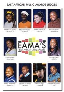Le Jury des East African Music Awards 2011 (Jury pour les Nomiations).