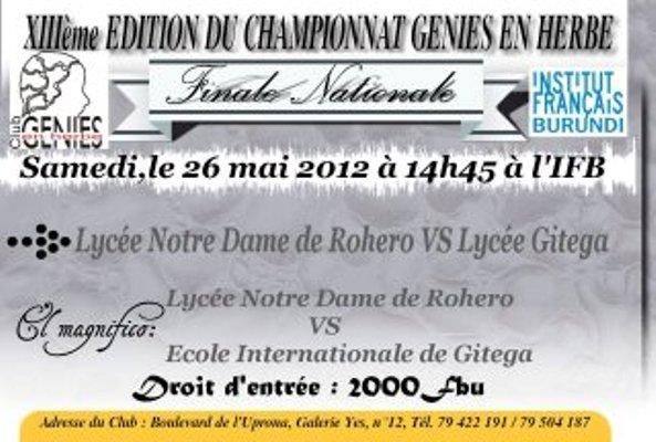 Affiche de la grande finale (www.akeza.net)