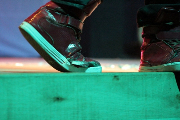 La fameuse chaussure des Toptentube Awards (www.akeza.net)