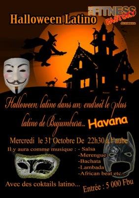 Halloween  à Buja , l'affiche (www.akeza.net)