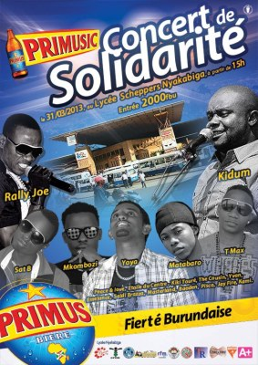 Concert de solidarité avec les meilleurs chanteurs burundais : l'affiche.(www.akeza.net)