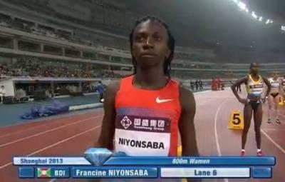 Francine Niyonsaba , à l'arrivée (www.akeza.net)