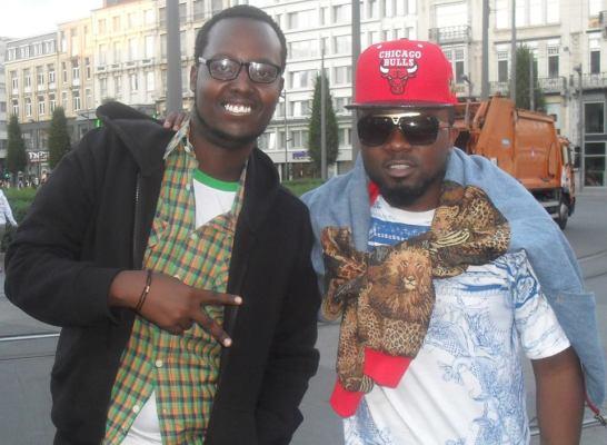 Le rappeur 19th avec le rappeur nigerian Ice Prince Aboki en Belgique (www.akeza.net)