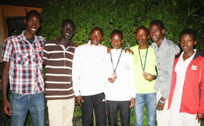 Les jeunes athlètes lors de leur accueil par le ministère de la jeunesse ©Iwacu