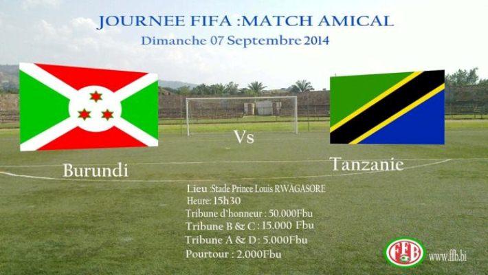 La Tanzanie  veut un match retour contre le Burundi à tout prix.